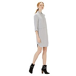 Warehouse - Concealed zip textured dress