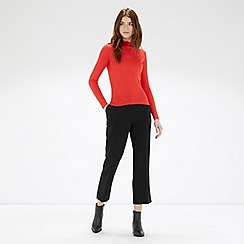 Warehouse - High neck rib top