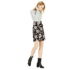 Warehouse - Floral jacquard skirt
