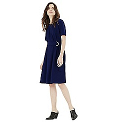 Warehouse - D ring compact crepe dress