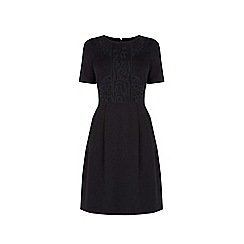 Warehouse - Lace detail ponte shift dress