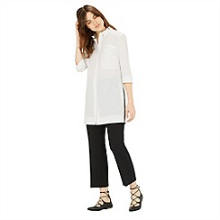 Warehouse - Split side cotton tunic