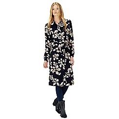 Warehouse - Floral belted shirt dress