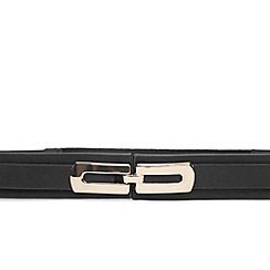 Warehouse - Leather metal detail belt