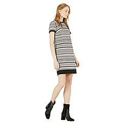Warehouse - Geo tweed shift dress