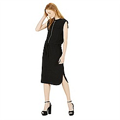 Warehouse - Zip front midi dress