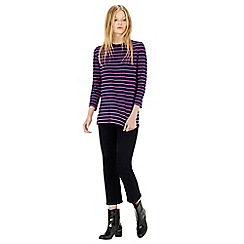 Warehouse - STRIPE 3/4 SLEEVE TOP