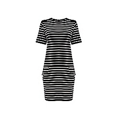 Warehouse - Stripe ponte shift dress