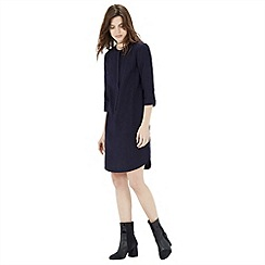 Warehouse - Textured cotton shirt dress