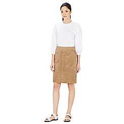 Warehouse - Suedette pocket detail skirt