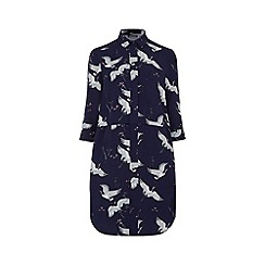 Warehouse - Bird print shirt dress