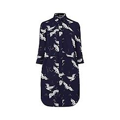 Warehouse - Bird print shirt dress