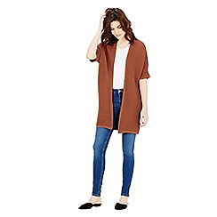 Warehouse - Ribbed cocoon cardi