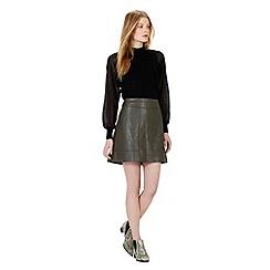 Warehouse - Woven sleeve jumper