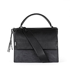 Warehouse - Slouchy zipped satchel