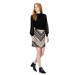 Warehouse - Stripe tweed pelmet skirt