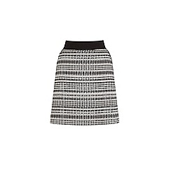 Warehouse - Geo tweed skirt