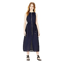 Warehouse - Zip through midi dress