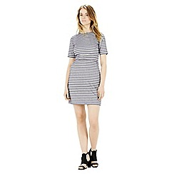 Warehouse - Stripe seam detail dress