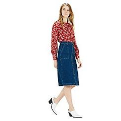 Warehouse - Floral button back blouse