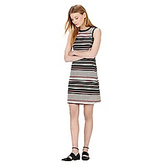 Warehouse - Stripe tweed a-line dress