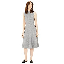 Warehouse - Bonded tweed midi dress
