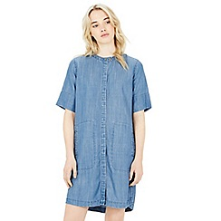 Warehouse - Grandad collar shirt dress