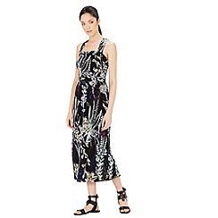 Warehouse - Abstract floral midi dress