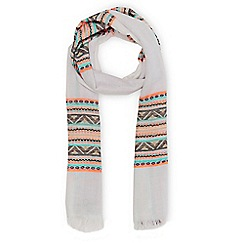Warehouse - Neon stripe scarf