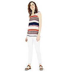 Warehouse - Latina stripe printed vest