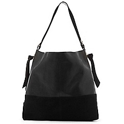 Warehouse - Eyelet Leather Hobo Bag