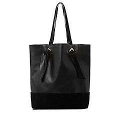 Warehouse - Eyelet Leather Shopper