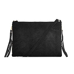 Warehouse - Embossed croc cross body