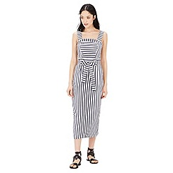 Warehouse - Stripe midi pencil dress