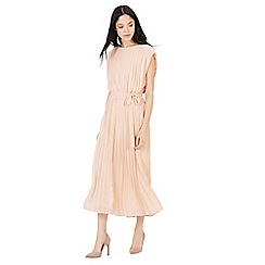 Warehouse - Pleated belted dress
