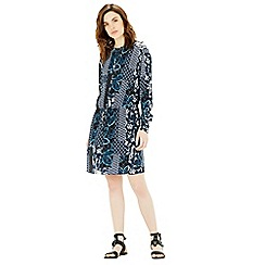 Warehouse - Prairie print tie waist dress