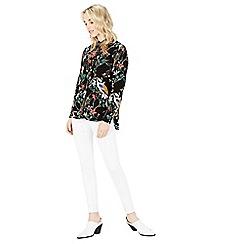 Warehouse - Floral bird print blouse