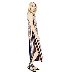 Warehouse - Placed tile stripe dress