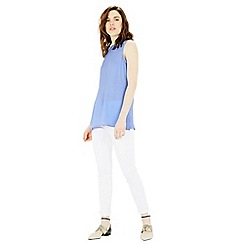 Warehouse - Crepe tunic shell top