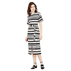 Warehouse - Textured stripe midi dress