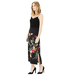 Warehouse - Split Side Floral Midi Skirt