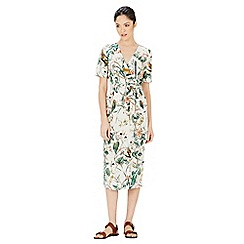 Warehouse - Bird Print Wrap Dress