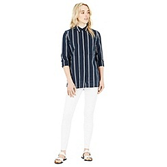 Warehouse - Linen mix stripe shirt