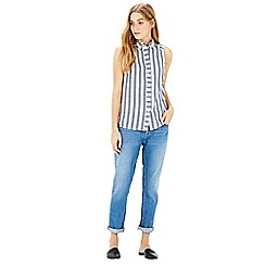 Warehouse - Sleeveless stripe shirt