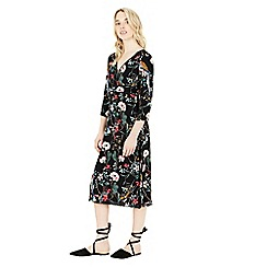 Warehouse - Floral bird empire midi dress