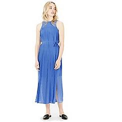 Warehouse - Micro pleat midi dress