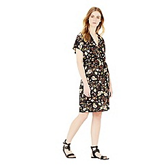 Warehouse - Leafy ditsy dress