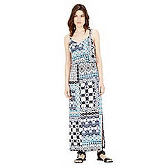 Warehouse - Prairie print patchwork midi