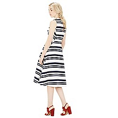 Warehouse - Stripe midi dress