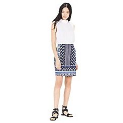 Warehouse - Patchwork print pelmet skirt